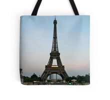 Eiffel Tower at dusk Tote Bag