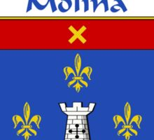 Molina Coat of Arms/Family Crest Sticker