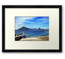 skye blue Framed Print