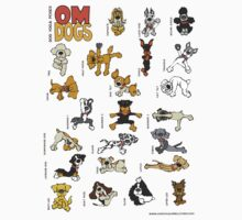 Om Dogs - Dog Yoga Poses Kids Clothes