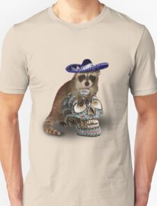 Day Of The Dead Raccoon Unisex T-Shirt