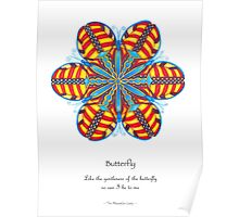 Butterfly Mandala Poster Poster
