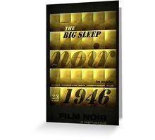 The Big Sleep Greeting Card