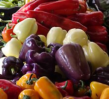 Colorful Peppers, Jersey City Farmers Market, Jersey City, New Jersey by lenspiro