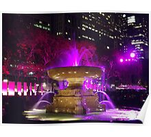 Colorful Fountain, Bryant Park, New York City Poster