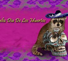 Feliz Dia De Los Muertos Happy Day Of The Dead Raccoon by jkartlife