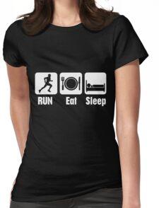 RUN Eat Sleep Womens Fitted T-Shirt