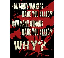 Zombies - 3 Questions Photographic Print