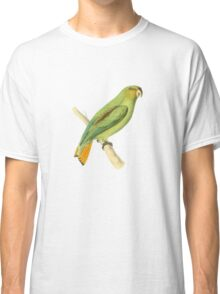 Golden-tailed Parrot Bird Illustration by William Swainson Classic T-Shirt