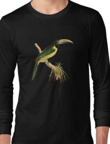 Green Aracari Bird Illustration by William Swainson Long Sleeve T-Shirt
