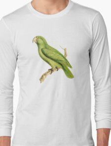 Green Parrot Bird Illustration by William Swainson Long Sleeve T-Shirt