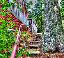 Short Climb up the Stone Steps by WestBigSky