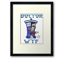 Zombie Doctor Who Framed Print