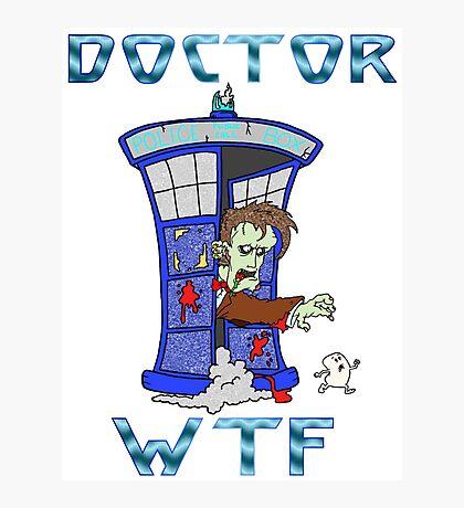Zombie Doctor Who Photographic Print