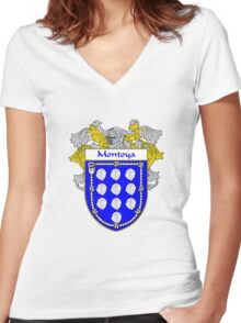 Montoya Coat of Arms/Family Crest Women's Fitted V-Neck T-Shirt