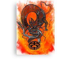 Dragoon ball of fire Canvas Print