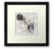 Orbital Decay Framed Print