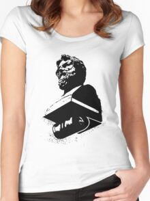 Powerful Black Bust Women's Fitted Scoop T-Shirt