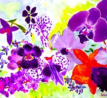 Orchids in mauve by Ali Close