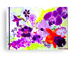 Orchids in mauve Canvas Print