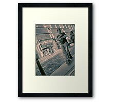 Patiently Waiting - Street Photogrpahy Framed Print