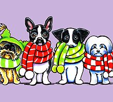 Dogs in Scarves Winter 2013 by offleashart