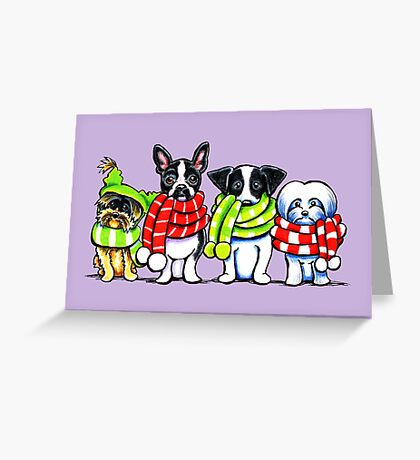 Dogs in Scarves Winter 2013 Greeting Card