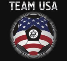Team USA - American Flag - Football or Soccer Ball & Text by graphix
