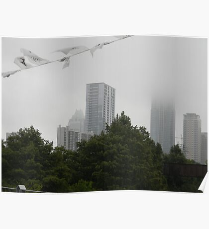 Misty, Cloudy Skies Poster