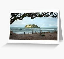 Whangamata Bar Surfing Greeting Card