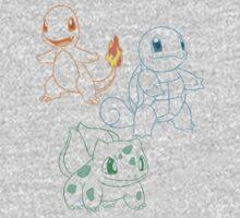 Starter Pokemon Kids Clothes