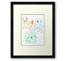 Starter Pokemon Framed Print