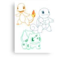 Starter Pokemon Canvas Print