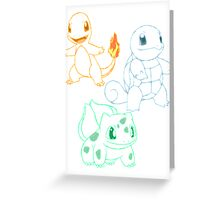 Starter Pokemon Greeting Card