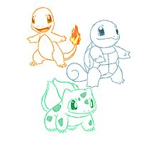 Starter Pokemon Photographic Print