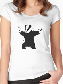 Badgers Fight Back! Women's Fitted Scoop T-Shirt