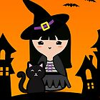 Halloween Cute Witch by arlain