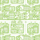 City streets pattern by oksancia