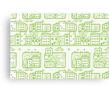 City streets pattern Canvas Print