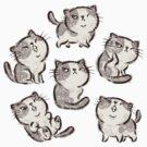 Six Impudent cats by Toru Sanogawa