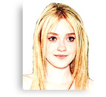 Dakota Fanning 1 Canvas Print