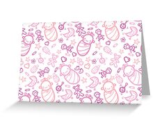 Cute baby girl pattern Greeting Card