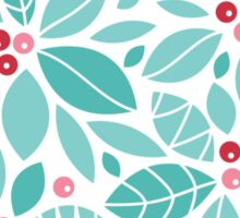 Holly berries and leaves pattern Sticker