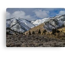 The Sierras from Carson Valley Canvas Print