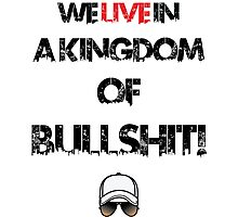 We live in a kingdom of bullshit - version 2 Photographic Print