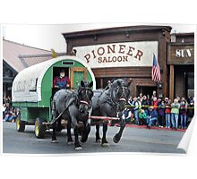Horse Drawn Wagon Poster