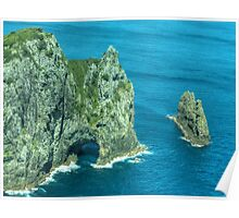 The ' Hole in the Rock ' Bay of Islands, New Zealand......! Poster