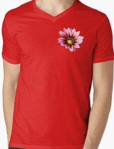 Pink Gazania Mens V-Neck T-Shirt