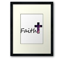 Faith- Galaxy Cross Framed Print