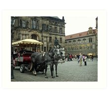 Tourist Time in The Old City Art Print